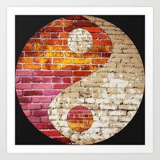 Brick Yin Yang Art Print