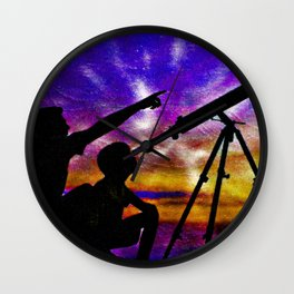 The Star Called Polaris Wall Clock