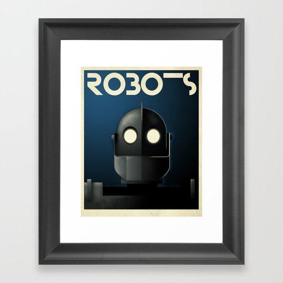 Robots - Iron Giant Framed Art Print