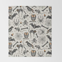 Halloween X-Ray Throw Blanket