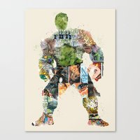 superheros Canvas Prints featuring dont make him angry by bri.buckley