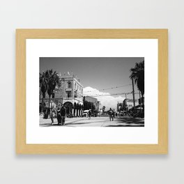 Venice Beach Black And White IV Framed Art Print