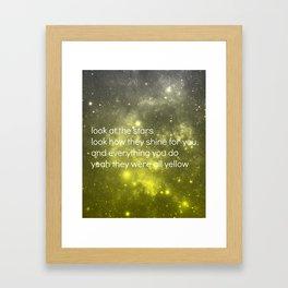 Yellow Framed Art Print
