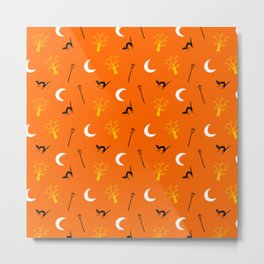 Halloween Night-Orange Metal Print