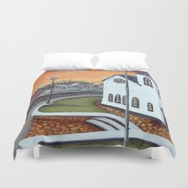 Cardiff Bay Sunset Duvet Cover