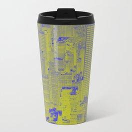 New York Buildings - Green Travel Mug