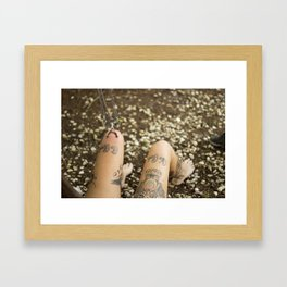 Single Knee Suspension Framed Art Print