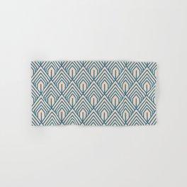 Modern Peach Blue Geometric Abstract Pattern Hand & Bath Towel