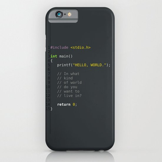 programmer's choice, C nerd. iPhone & iPod Case