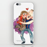 the goonies iPhone & iPod Skins featuring Goonies Hug by Super Group Hugs