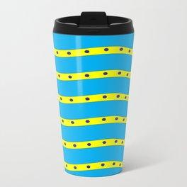 Coastal Pattern On the Beach Travel Mug