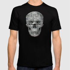 Highly Resolved Ghost (P/D3 Glitch Collage Studies) X-LARGE Black Mens Fitted Tee
