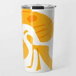 woman recline by cat cave Travel Mug