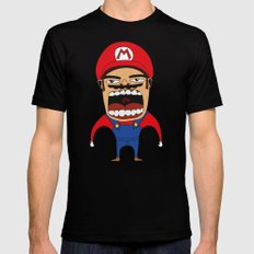 Screaming Mario Black X-LARGE Mens Fitted Tee