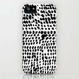 Flowing dots 02 iPhone Case