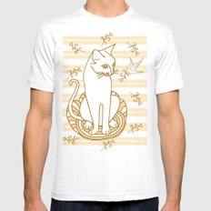Friendship MEDIUM Mens Fitted Tee White