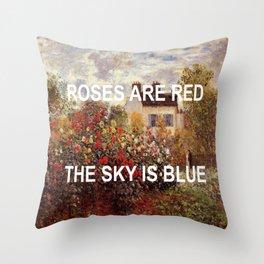 3 Minute Garden Throw Pillow