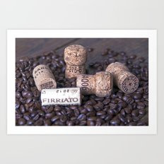 COFFEE & CORK  Art Print