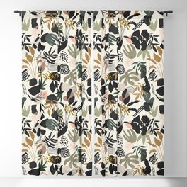 Modern simple jungle 52 Blackout Curtain