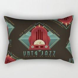 Vintage Jazz Radio Station Rectangular Pillow
