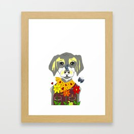 Botanical Pup Framed Art Print