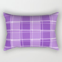 Chalk strokes of light and violet lines on a calm background. Rectangular Pillow