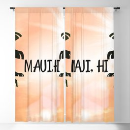 Maui, Hawaii Sunset Blackout Curtain
