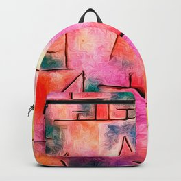 Harbour with Sailing Ships by Paul Klee Backpack