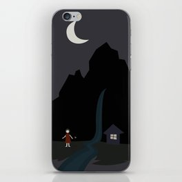 red dress little girl iPhone Skin