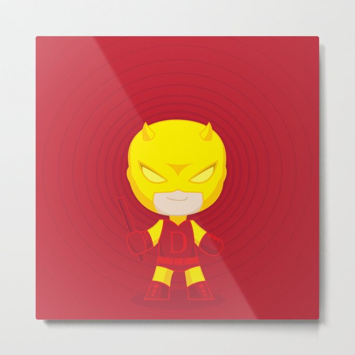 Daredevil Yellow Metal Print