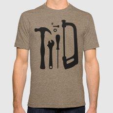 Tools Pattern Tri-Coffee MEDIUM Mens Fitted Tee