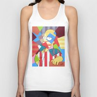 simpson Tank Tops featuring Homer Simpson by iankingart