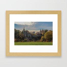 Central Park, Fall, Belvedere Castle Framed Art Print