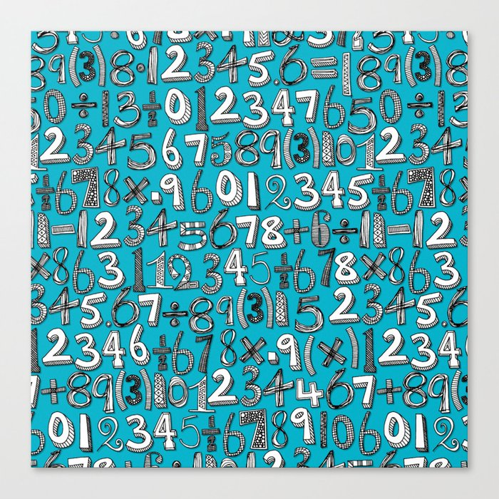 math doodle blue Canvas Print by sharonturner | Society6