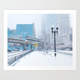 Chicago Blizzard - 2015 Art Print