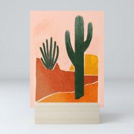 Desert Style Boho Aloe Vera Watercolour Painting Artwork Mini Art Print