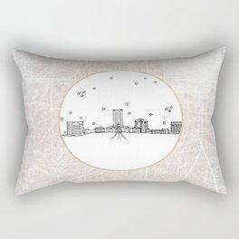 Tallahassee, Florida City Skyline Illustration Drawing Rectangular Pillow