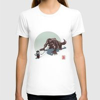 kiki T-shirts featuring Kiki le petit loup by Alexandre Guillaume