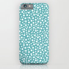Aqua White Confetti iPhone 6 Slim Case