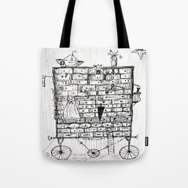 chest of drawers transport Tote Bag