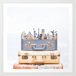 Travel Luggage Art Print