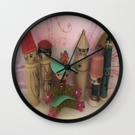 Surround Yourself Happy Wall Clock