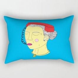 Anxious Lady Rectangular Pillow
