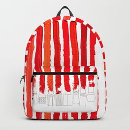 Lipstick Stripes - Red Shades Backpack