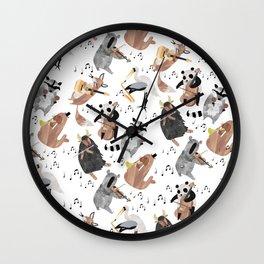 Animal Orchestra Wall Clock