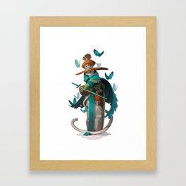 Mage Cat Framed Art Print