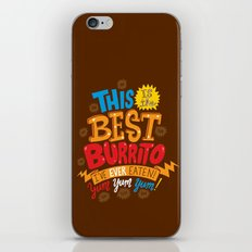 Best Burrito iPhone & iPod Skin
