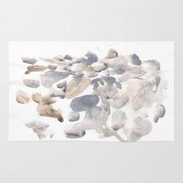 180630 Grey Black Neutral Brown Abstract Watercolour 15 Rug