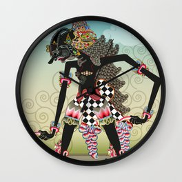 Wayang or shadow puppets Wall Clock