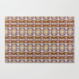 Close-up of ceramic wall tiles in Tavira, Portugal Canvas Print